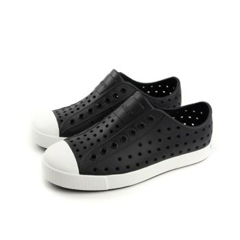 native JEFFERSON 懶人鞋 洞洞鞋 防水 雨天 黑色 中童 童鞋 12100100-1105 no755