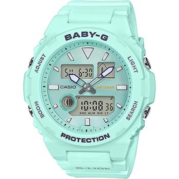 CASIO卡西歐BABY-G戶外運動手錶薄荷綠BAX-100-3A