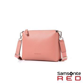 Samsonite RED HANIEE 繽紛多彩皮革肩背包(粉)HF1*90002