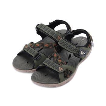 LOTTO 排水磁扣涼鞋 綠 LT9AMS0195 男鞋 鞋全家福