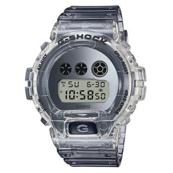 【CASIO】G-SHOCK 半透明設計電子休閒錶-(DW-6900SK-1)