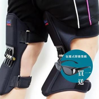 【米卡索】|超值組合|韓國熱銷醫療器材認證膝關節護具/護膝 +包覆式開窗偏光墨鏡/太陽眼鏡