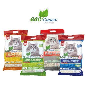 Eco Clean 艾可 天然環保 豆腐貓砂 7L  三包組(四種口味)