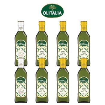 奧利塔特級初榨橄欖油500ml*2罐+奧利塔純橄欖油500ml*6罐