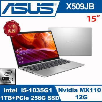 (全面升級)ASUS華碩 X509JB-0121S1035G1 戰鬥筆電 冰柱銀 15吋/i5-1035G1/8G/1TB+240G SSD/MX110/W10