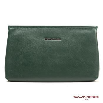 CUMAR 義大利-Nappa 皮革手拿包/鏈帶包/肩背包-綠色