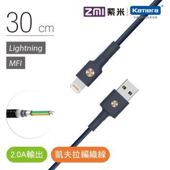 ZMI 紫米  Lightning  磁吸編織數據線30cm  (AL823)--藍