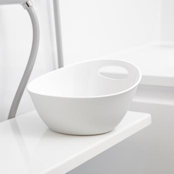 日本岩谷Iwatani RETTO一體簡約圓形浴室舀水盆