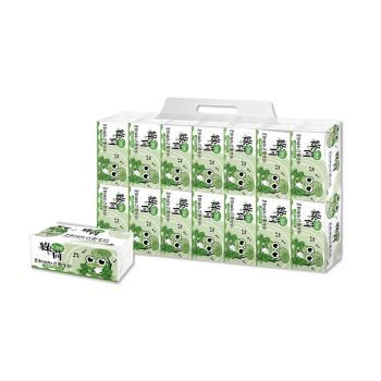 綠荷柔韌抽取式花紋衛生紙100抽X112包/箱