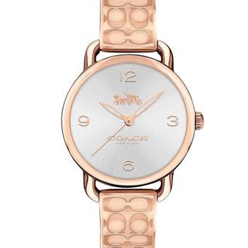 COACH 經典Logo手環式腕錶/玫瑰金/28mm/CO14502893