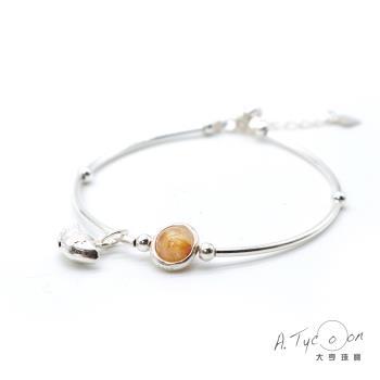 【A Tycoon Jewelry】招財元寶天然鈦晶銀手鍊(K0025)