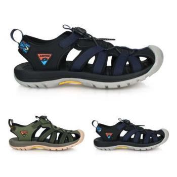 LOTTO 男冒險者護趾運動涼鞋-反光 休閒 海邊 戲水 健走鞋