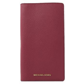 MICHAEL KORS Bedford Legacy 對開護照長夾.深紫紅