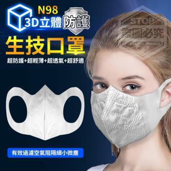 你會買 N98防護3D立體生技口罩*2包(100入/包)