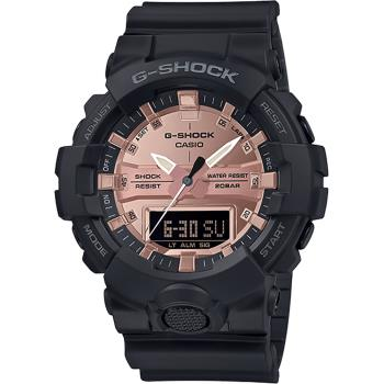 CASIO 卡西歐 G-SHOCK 金屬感雙顯手錶 GA-800MMC-1A