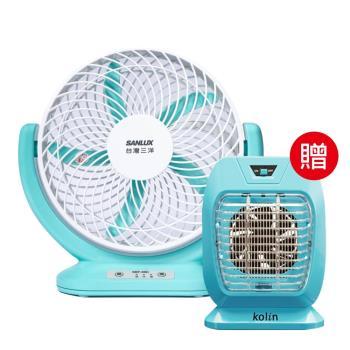 台灣三洋X歌林 8吋 USB型DC循環電風扇+滅蚊燈SBF-08D_KEMKU005B