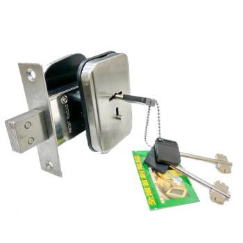 SC2205-UP-03白鐵色 金冠 白鐵鋼三段式 輔助鎖38-42MM 鎖匣式 葉片式鑰匙 木門鋁合金門 硫化銅門