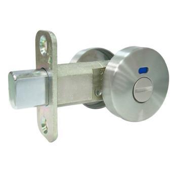 LS-S-4-SN日規 浴廁補助鎖 白鐵色 60mm無鑰匙 輔助鎖 浴廁門 門閂 門栓 硫化銅門通道門防盜鎖