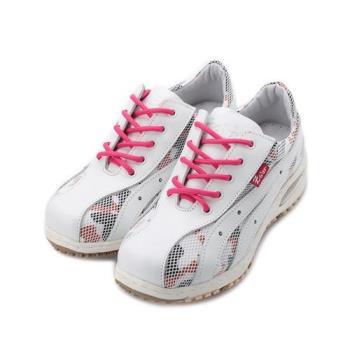 ZOBR 牛皮迷彩網氣墊鞋 白 女鞋 鞋全家福