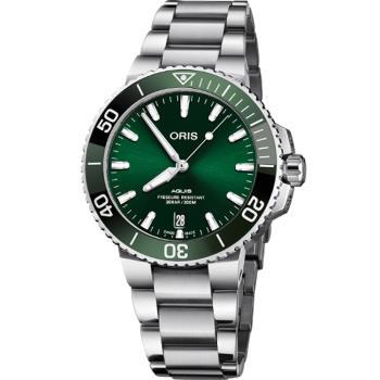 Oris Aquis 時間之海綠水鬼潛水機械錶(0173377324157-0782105PEB)39.5mm