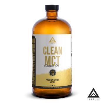 即期品-美國LEVELUP 100%純淨C8 MCT中鏈油 純椰子油萃取 (473ml/瓶) 效期至2020/12