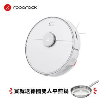 Roborock石頭科技 掃地機器人二代 S5 Max (白色)獨家加碼送德國雙人牌平煎鍋+拖布2入!!限量5組快搶