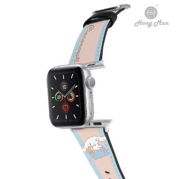 【Hong Man X Sanrio】 Apple Watch 皮革錶帶 Cinnamoroll 旅行大耳狗 42/44mm