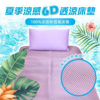 單人3.5尺 6D涼感透氣專利床墊 台灣製造