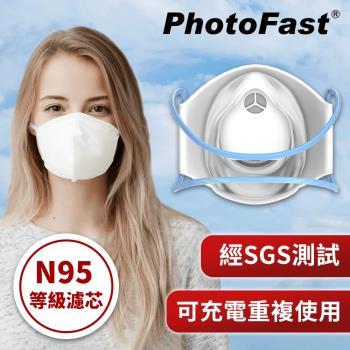 PhotoFast 口罩型 智慧行動空氣清淨機 AM-9500 +專用濾芯片30入