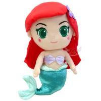 迪士尼公主大眼睛小美人魚愛麗兒絨毛娃娃玩偶36公分 172811【卡通小物】