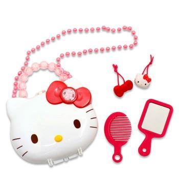 HELLO KITTY梳妝玩具組家家酒玩具附收納盒 003930【卡通小物】