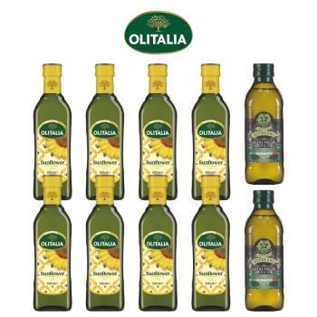 奧利塔頂級葵花油500毫升*8罐+義大利GIURLANI老樹特級初榨橄欖油500毫升*2罐