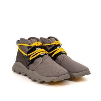 Timberland 男款中灰色皮革拼接Brooklyn Reboot休閒靴A2BUZF49