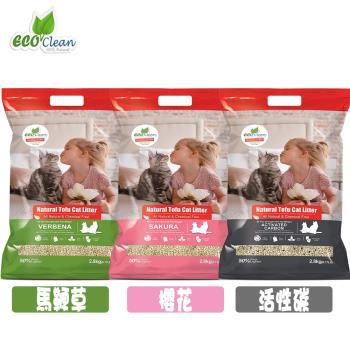 Eco Clean 艾可 輕質型豆腐貓砂 6L 共3款 X 3包組