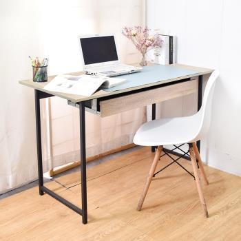 凱堡 木紋風105x55x75cm工作桌電腦桌+80cm抽屜組 電腦桌/書桌