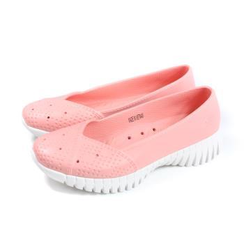 SKECHERS CALI GEAR 懶人鞋 防水 女鞋 粉橘色 111117LTPK no178