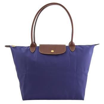 Longchamp Le Pliage 折疊長揹帶肩提包.紫色 #1899