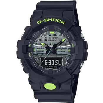 CASIO G-SHOCK 點陣迷彩雙顯運動錶(GA-800DC-1A)