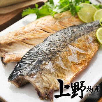 【上野物產】巨無霸挪威薄鹽鯖魚片(220g±10%/片)x19片