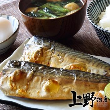 【上野物產】巨無霸挪威薄鹽鯖魚片(220g±10%/片)x10片