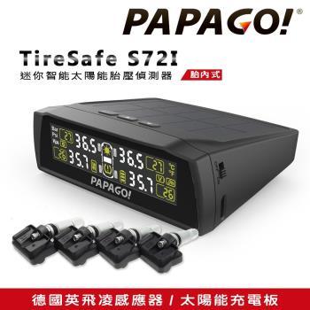 PAPAGO! TireSafe S72I 迷你智能太陽能胎壓偵測器-胎內式