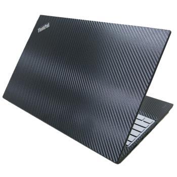 【Ezstick】Lenovo ThinkPad T590 黑色立體紋機身貼 (含上蓋貼、鍵盤週圍貼、底部貼) DIY包膜