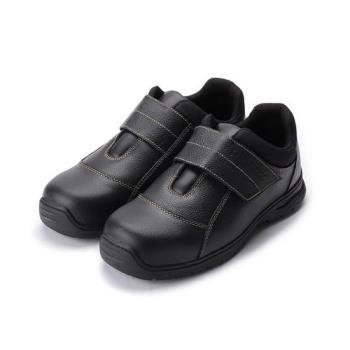 PAMAX 寬魔鬼氈機能鋼頭安全鞋 黑 男鞋 鞋全家福