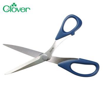 日本可樂牌Clover鋸齒剪刀防布逃剪刀36-664防逃布剪刀(不鏽鋼刀刃;總長21cm)拼布防滑剪刀