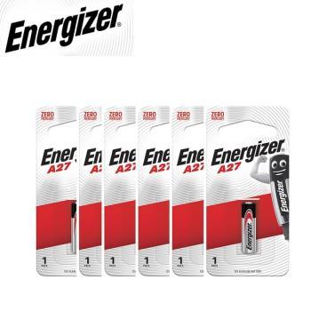 Energizer 勁量 A27 遙控器電池12V 6入