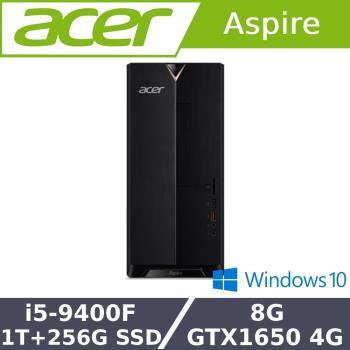 Acer 宏碁 TC-885 獨顯效能桌機 i5-9400F/8G/1T+256G SSD/GTX1650-4G/W10