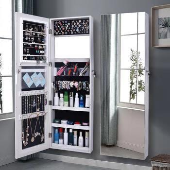 C&B思薇亞壁掛式無邊框化妝首飾穿衣鏡櫃