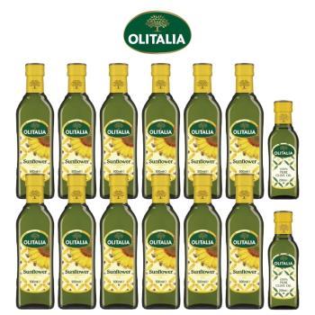 奧利塔頂級葵花油500毫升*12罐+奧利塔純橄欖油250毫升*2罐