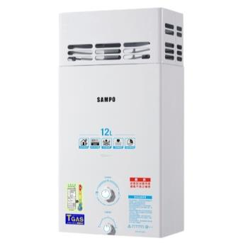 【SAMPO聲寶】12L大廈防風屋外型熱水器(桶裝瓦斯LPG) GH-K012BP