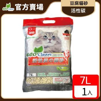 ECO艾可-豆腐貓砂7L-活性炭-單包入